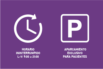 Horario ininterrumpido y parking